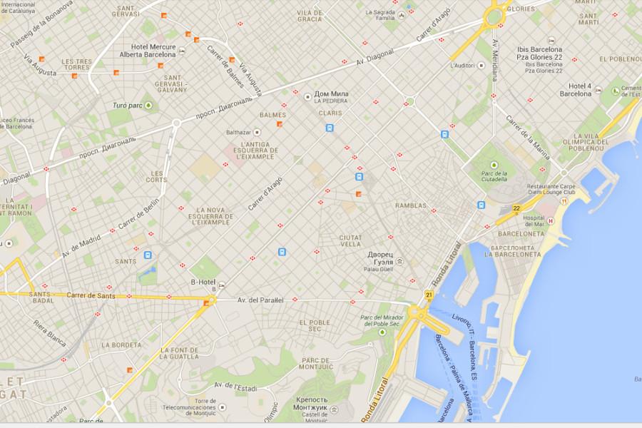 Карта Барселона 1