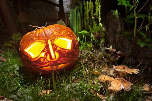 halloween pumpking mashrooms
