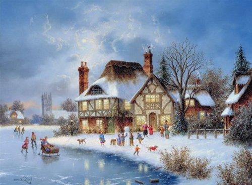 ночь перед рождеством, рождество, святки, сказочный домик