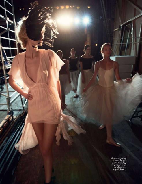 балет, балерины, вог февраль 2011
