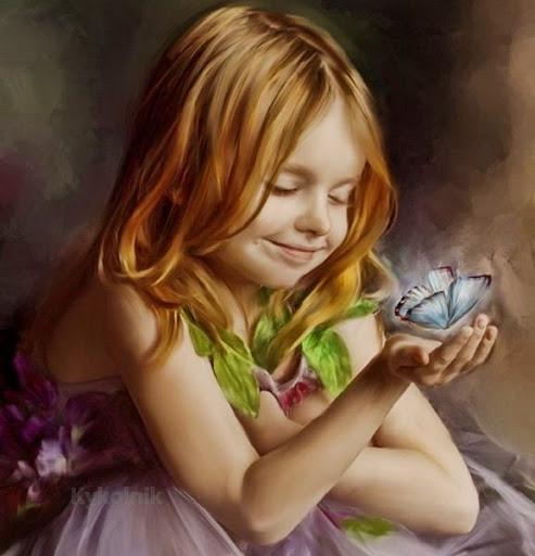 Девочка с бабочкой... Anna Stingley