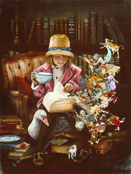 Читая добрые книги, мы поливаем цветы, которые растут в нас.