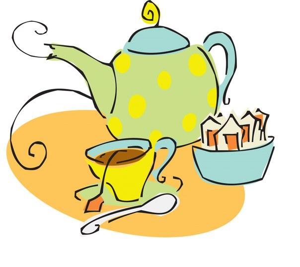 Рисунки чаепитья