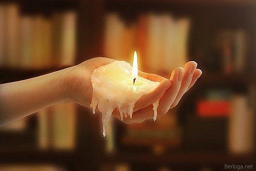 свеча, благодарность