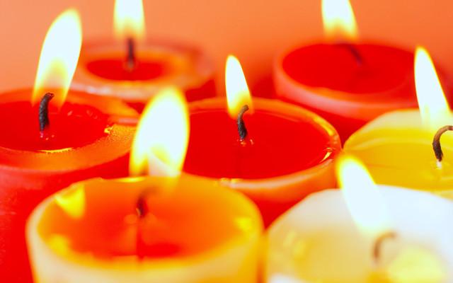свеча, огонь