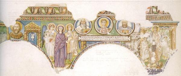 Базилика Св. Дмитрия в Салониках. Мозаика акварель.jpg