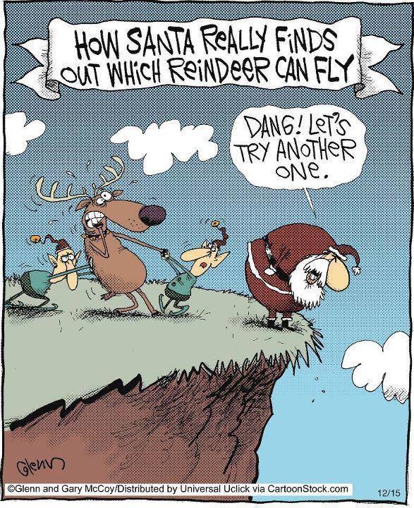 Flying deers