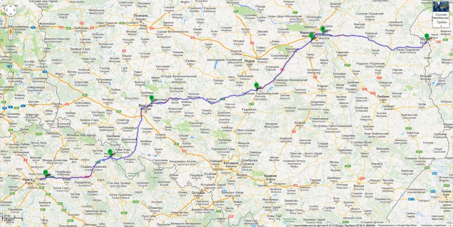 карта-Брест---Прага