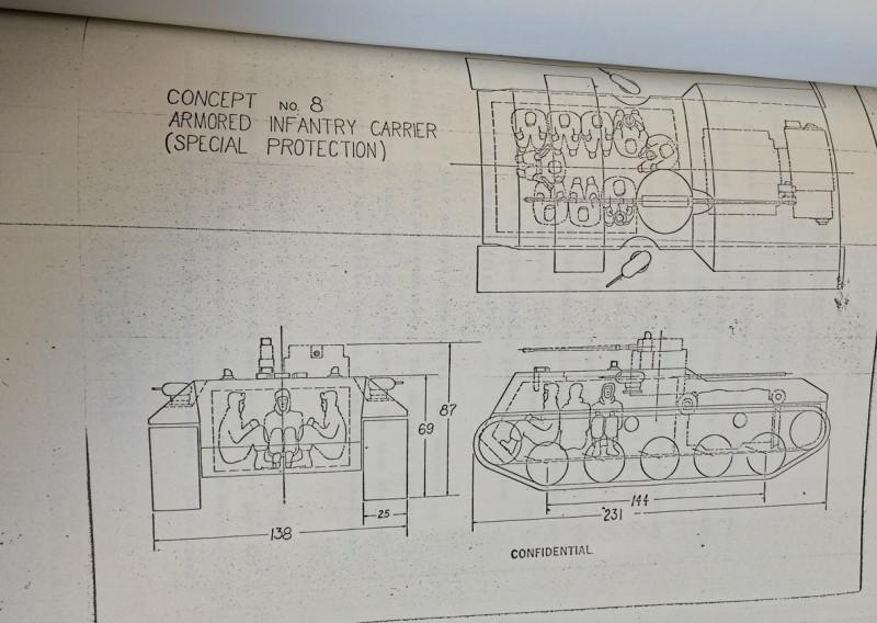 Концепты американских перспективных боевых машин конца 60-х. Concepts NO.8