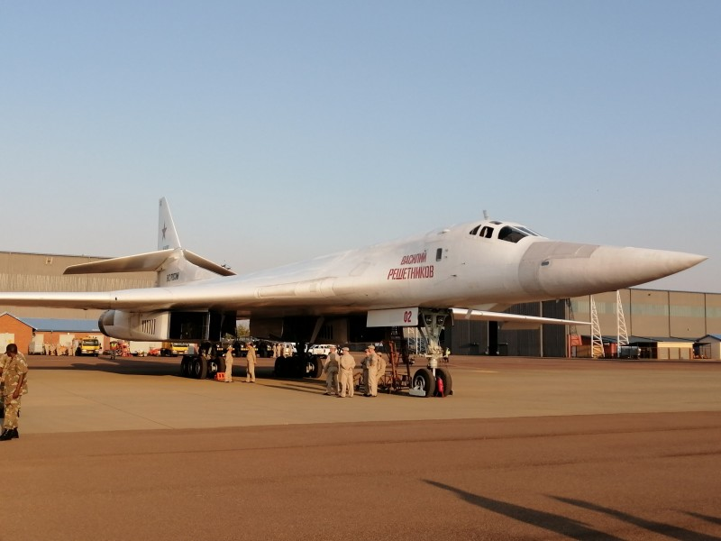 Прибытие ракетоносцев Ту-160 ВКС России в ЮАР