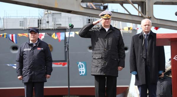 Новейший фрегат «Адмирал Головко» спущен на воду в Санкт-Петербурге