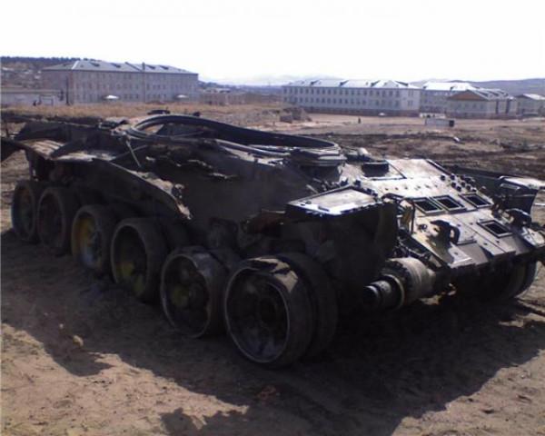 Пожар Т-72Б