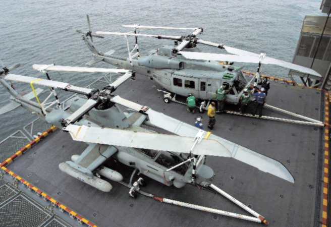 AH-1Z_and_UH-1Y_during_trials_on_USS_Bataan_(LHD-5)_2005.JPG
