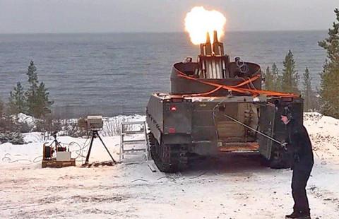 Provskjutning 1 med testrigg