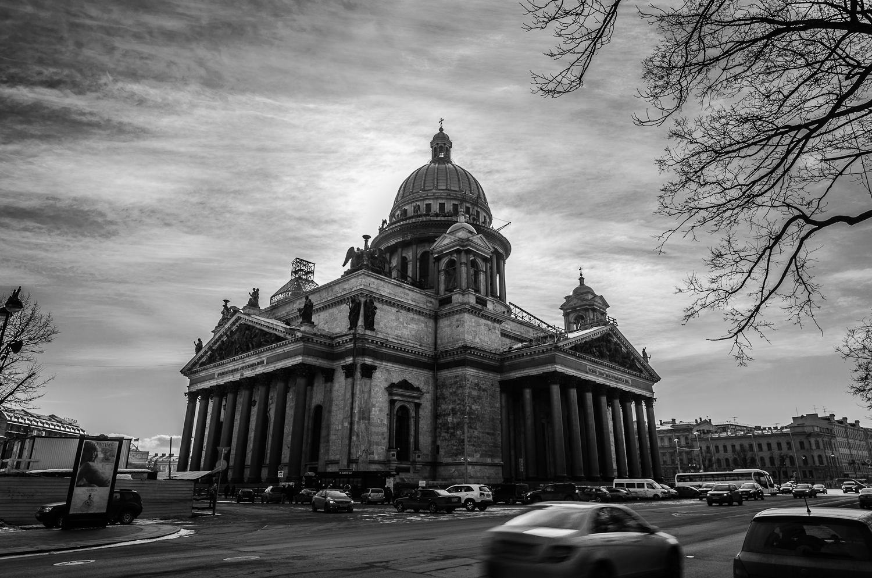 черно белые картинки петербург