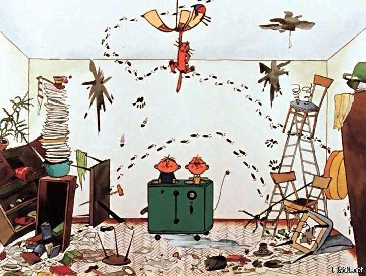 Мама приходит с работы,Мама снимает боты,Мама проходит в дом.Мама глядит кругом.— Был на квартиру налет?— Нет.— К нам приходил бегемот?— Нет.— Может быть, дом не наш?— Наш,— Может, не наш этаж?— Наш.Просто приходил Сережка,Поиграли мы немножко.— Значит, это не обвал?— Нет,— Значит, слон не танцевал?— Нет.— Очень рада. Оказалось,Я напрасно волновалась.