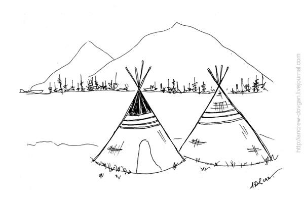 рисунок индейца