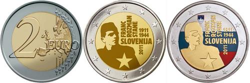 На монетах Евро изобразили партизана Стане