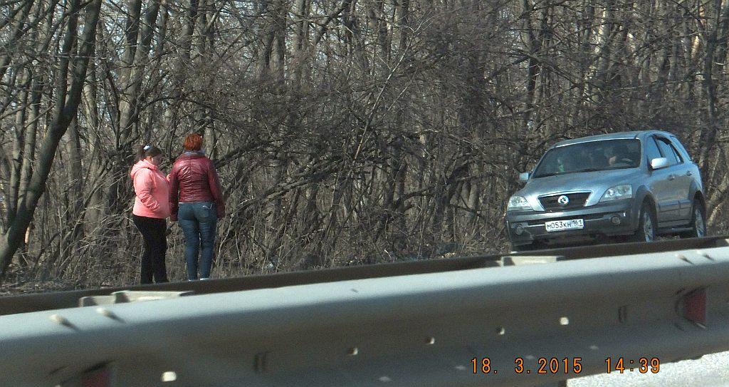 Снимают на дороге проститутку особо