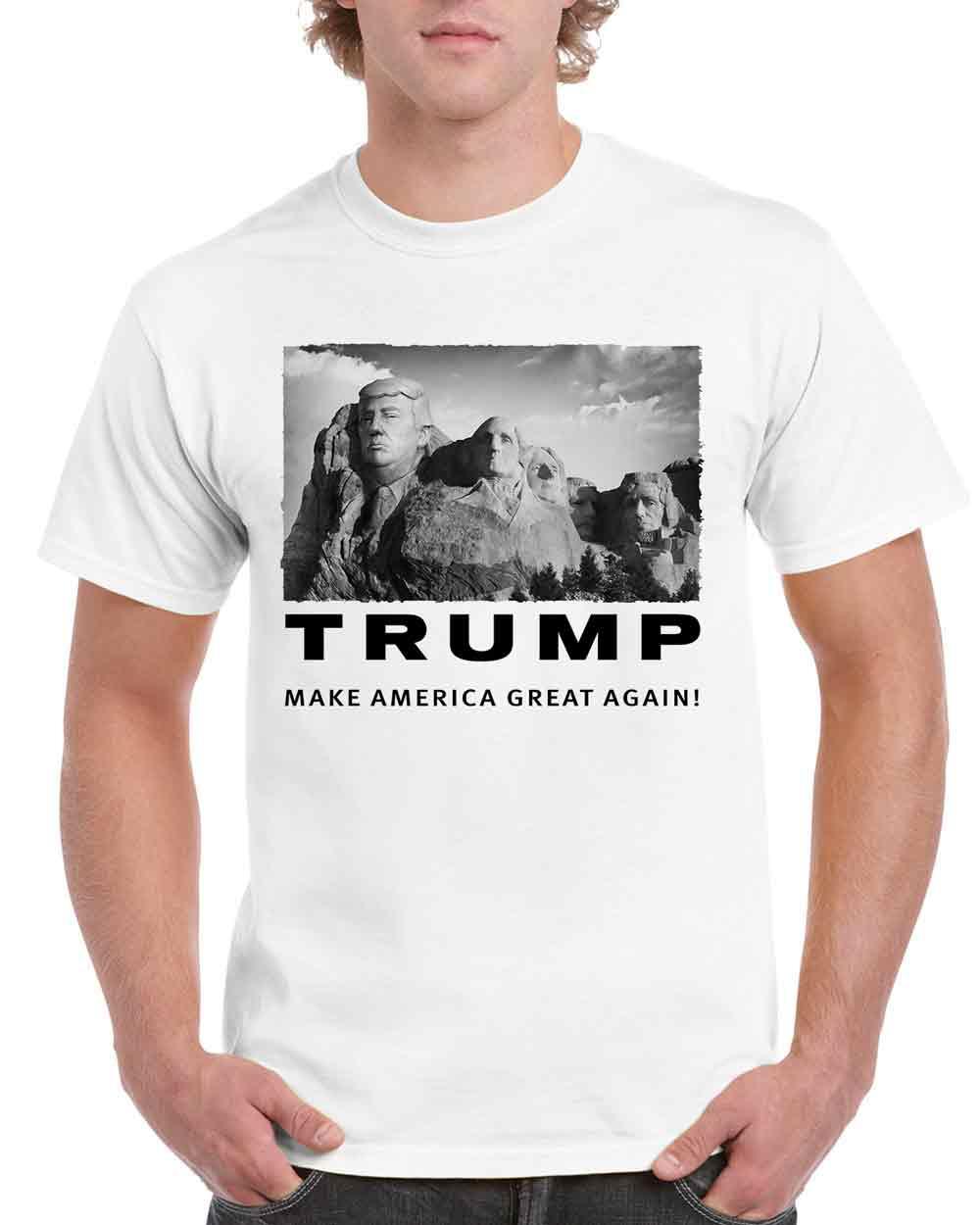 Make America Great Again Shirt Trump on Rushmore Mountain National Monuments Men's Tee