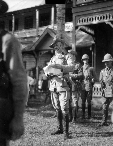 Оккупация германского Самоа, 1914 год.