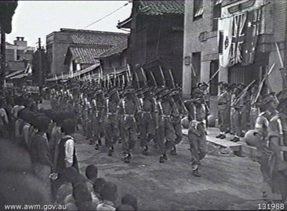 Австралия в составе Британских оккупационных сил содружества в Японии.