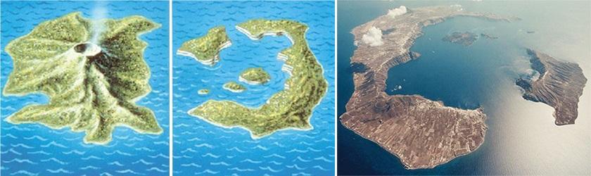 Eruption-on-Santorini