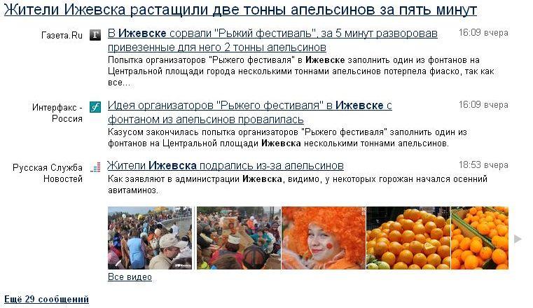 апельсины драка