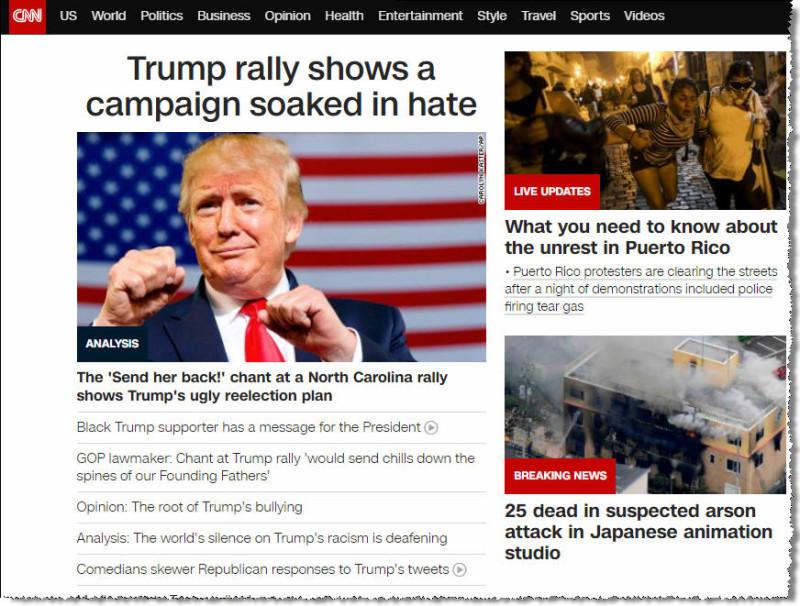 Фронт CNN