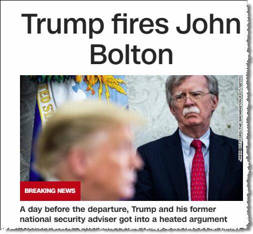Трамп уволил Болтона.