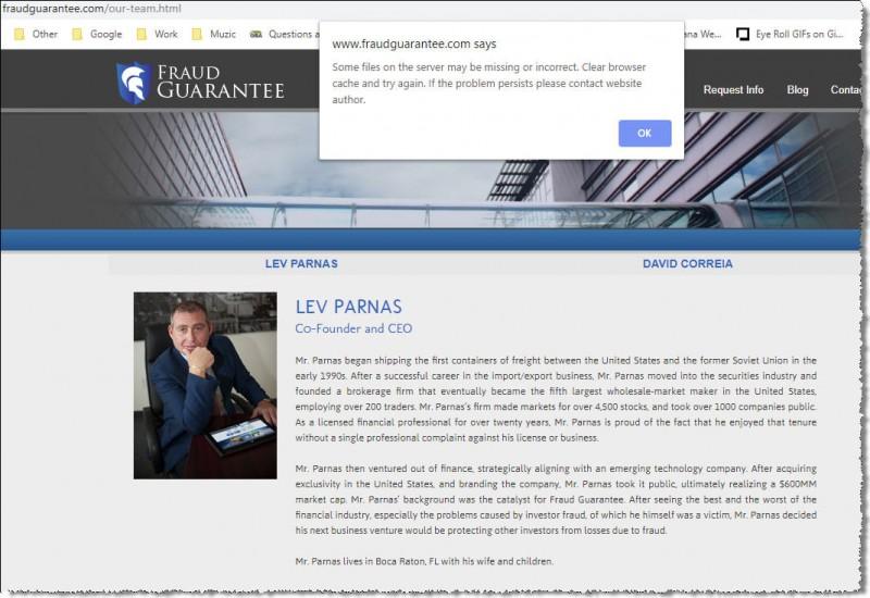 Лев Парнас рассказывает, что он гарантирует что он вас обжулит, даже если на его сайте не хватает каких-то файлов.