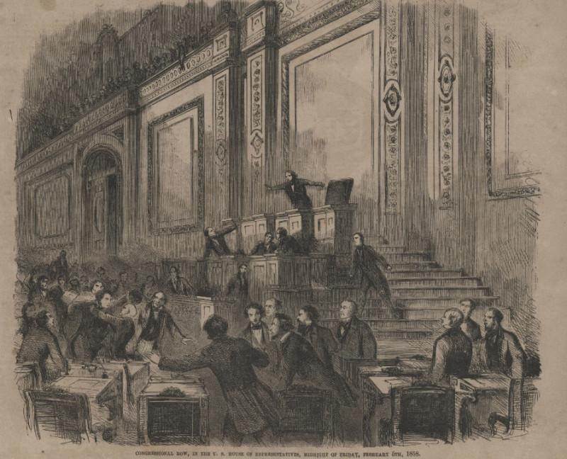 События в Конгрессе США 6 февраля 1858 года.