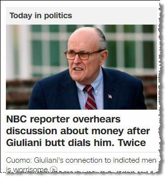 Жопа г-на Жуликане на CNN