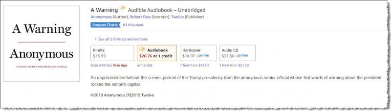 Книга анонимного автора, по видимому человека внутри Белого Дома, о ситуации внутри Белого Дома.