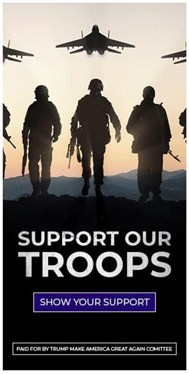Реклама компании Президента США.