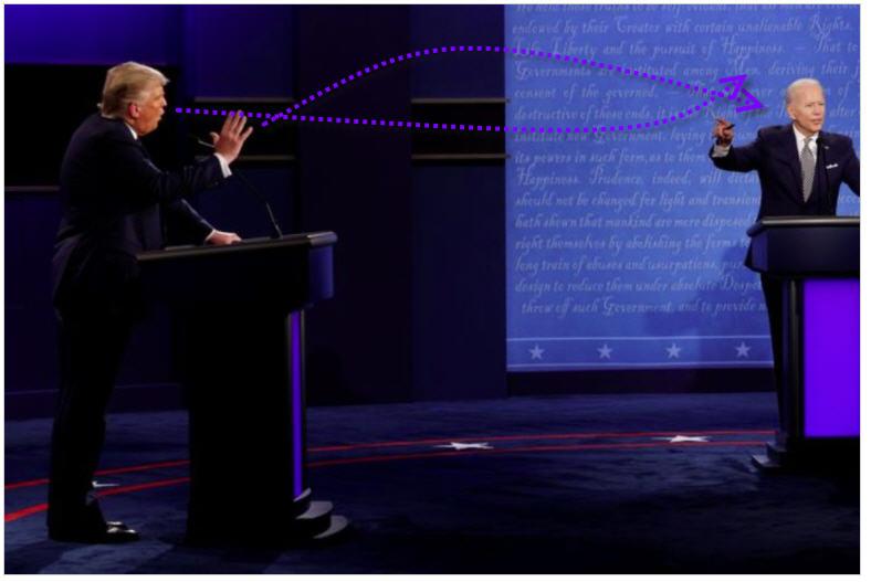 Трамп посылает смертельные жидкости в сторону политического противника.
