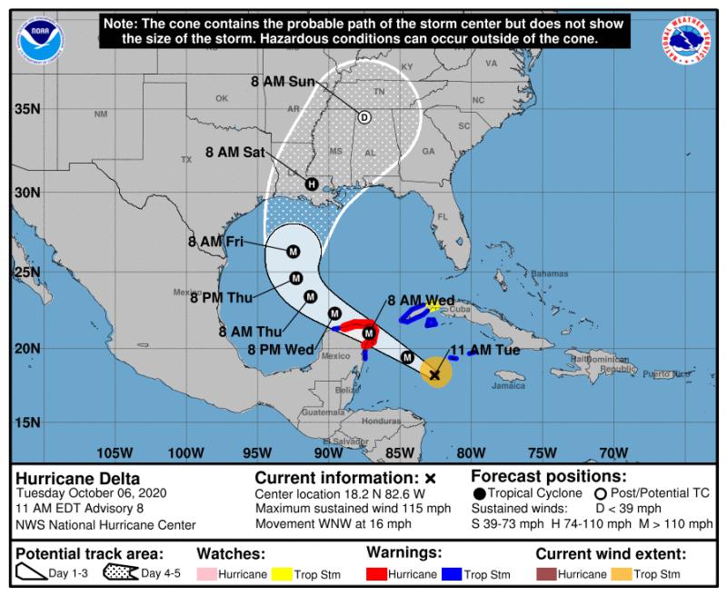 Ураган Дельта будет у нас в субботу