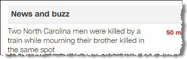 Два мужчины в Северной Каролине были убиты поездом вовремя поминок по их брату, который был убит... тоже поездом и на том же месте.