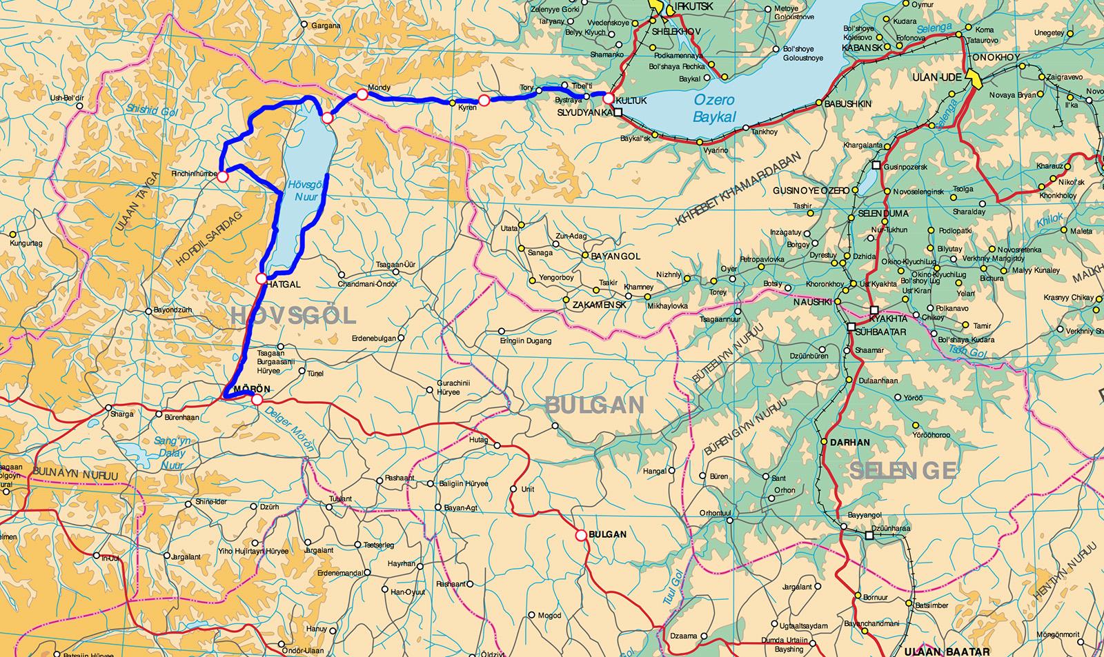 Карта Хубсугул 1