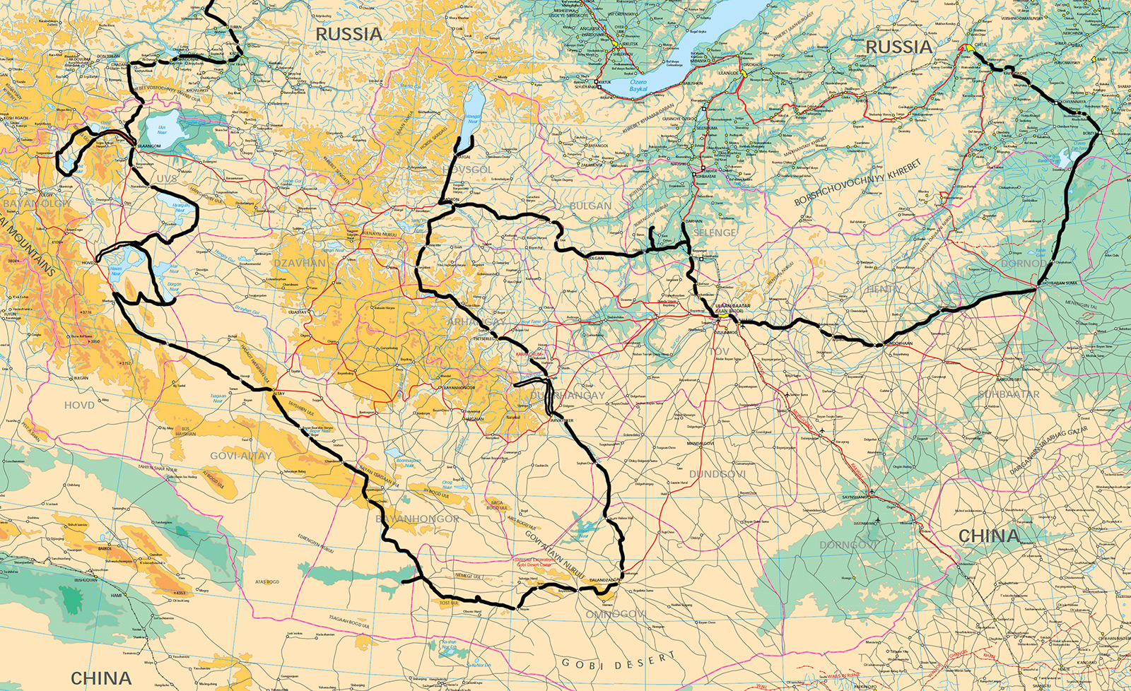 карта-Монголия-2