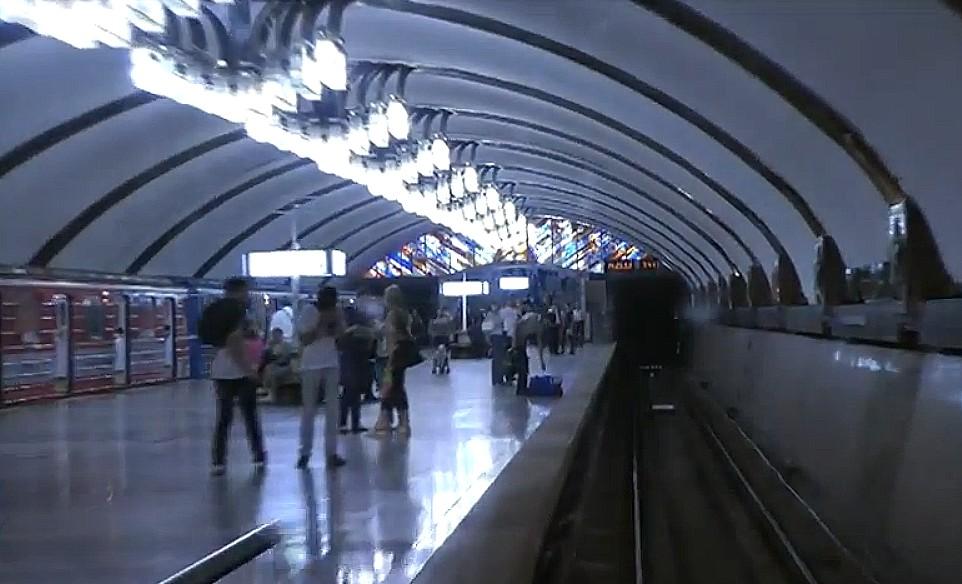 Самарское метро из кабины машиниста