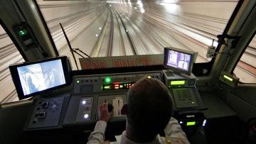 Прекрасный вид из кабины машиниста метро!