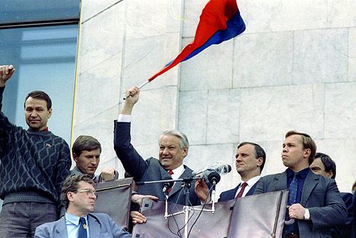 Борис Ельцин 22 августа 1991 года. Boris Yeltsin 22 August 1991