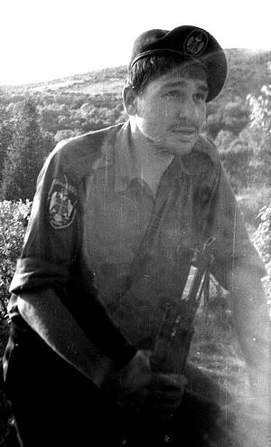 Марк Фейгин - доброволец в Сербии (из архива М.Фейгина)