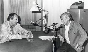 Анатолий Гладилин и Виктор Некрасов в парижской студии Радио Свобода.