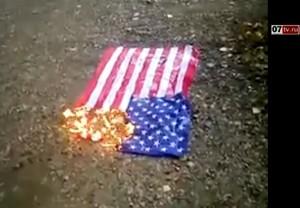 Видео: На улице Стара-Загора в Самаре мусульмане сожгли американский флаг!