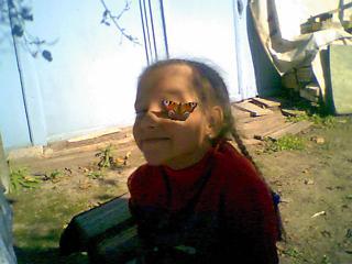Соня с бабочкой