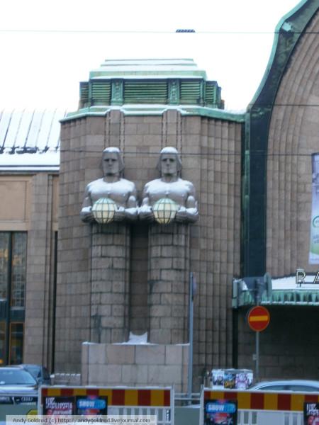 декор вокзала Хельсинки