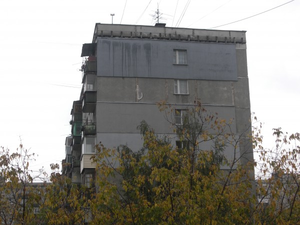 Торец частичного утепленного дома