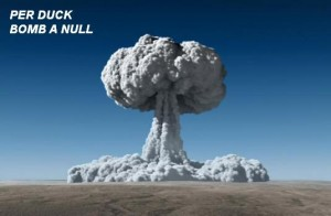 per duck bomb a null